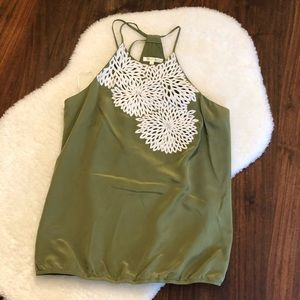 100% Silk Tank Top with Tie Back